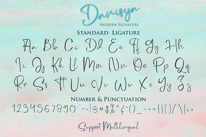 Danisya Modern Signature example 9