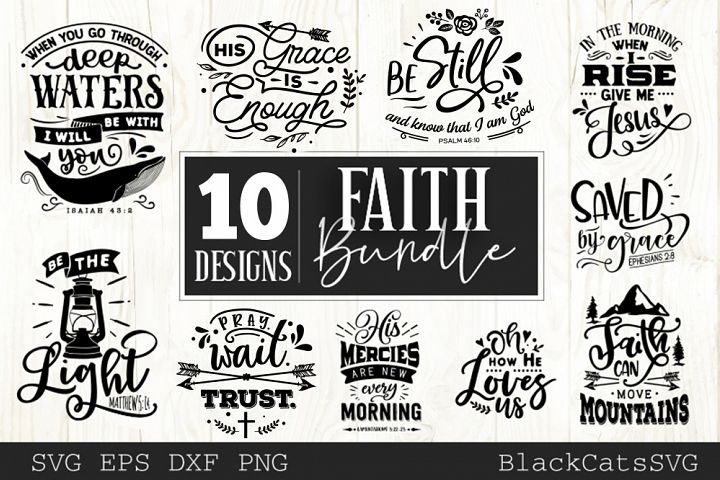 Faith SVG bundle 10 designs Christian SVG bundle vol 4