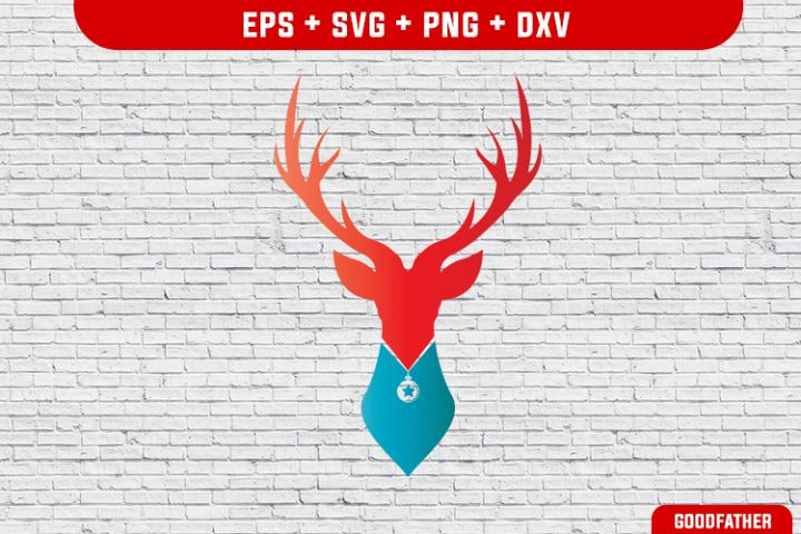 Deer SVG DXF PNG EPS Cutting Files