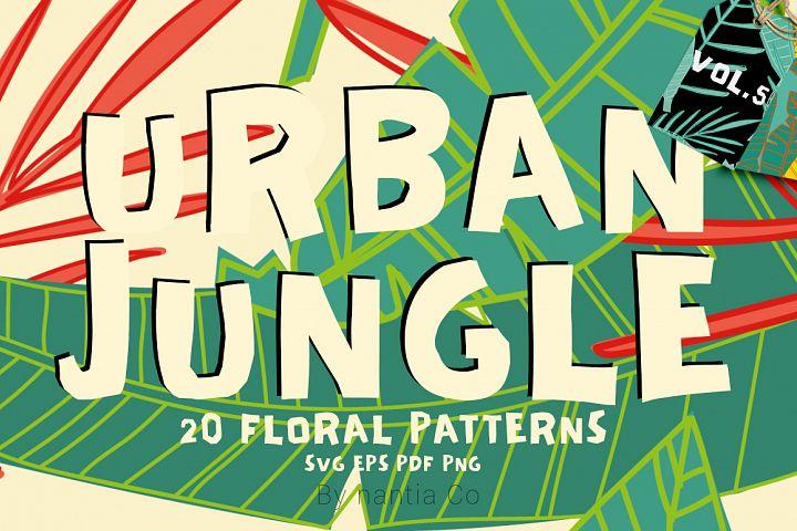 20 Urban Jungle Patterns Vol.5