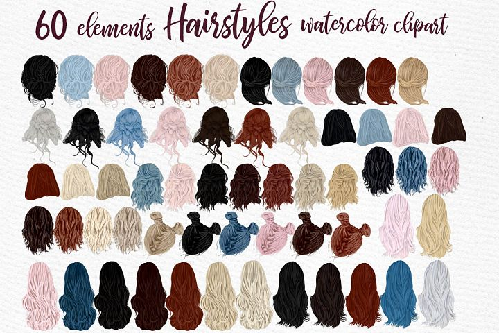 Hairstyles clipart, Girls Hairstyles,Custom Girls Hairstyle