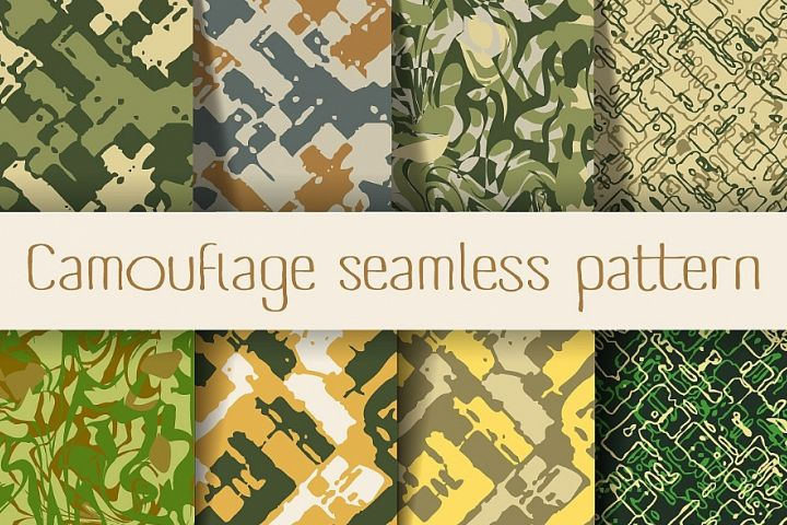Scrapbooking military camouflage
