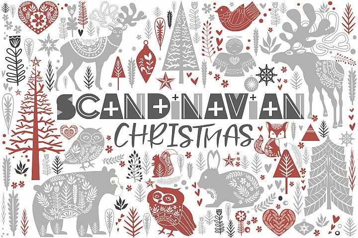 Scandinavian Christmas set