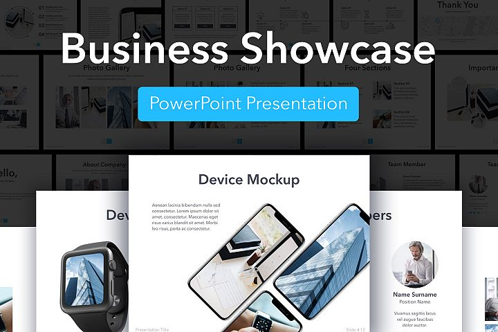 Business Showcase PowerPointTemplate