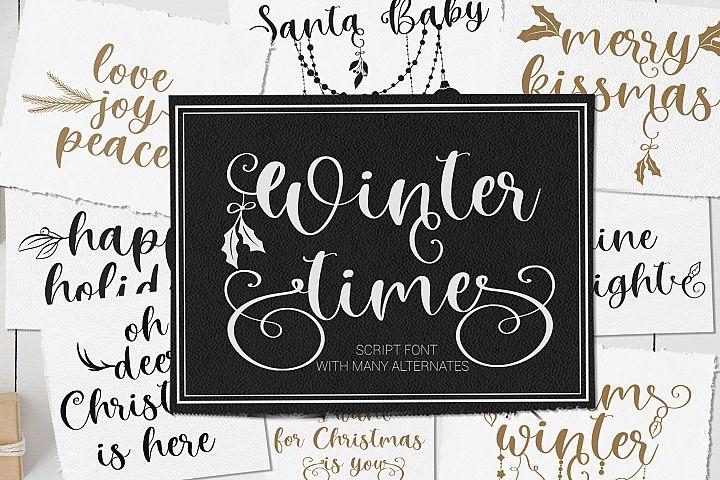 Winter Time. Decorative Script Font