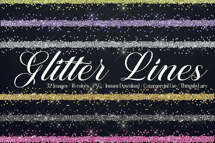 32 Seamless Glitter Border Line Overlay Images