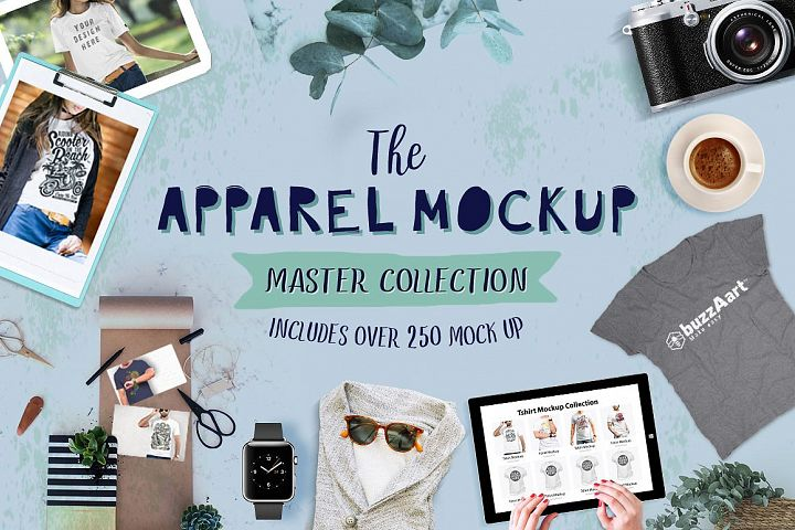 300 Apparel Mockups Big Bundle