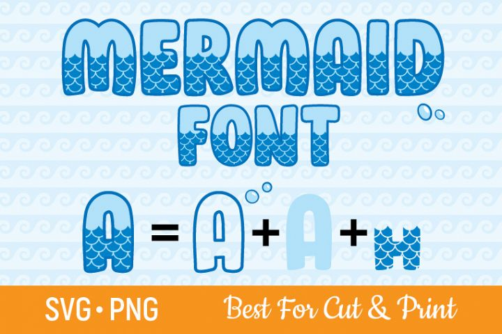 Mermaid Alphabet SVG Mermaid SVG Mermaid Font SVG Letters