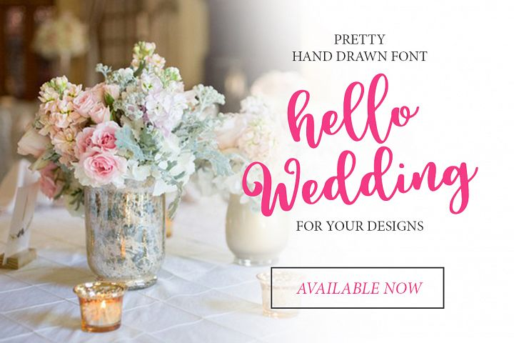 Hello Wedding - Free Font of The Week Design 4