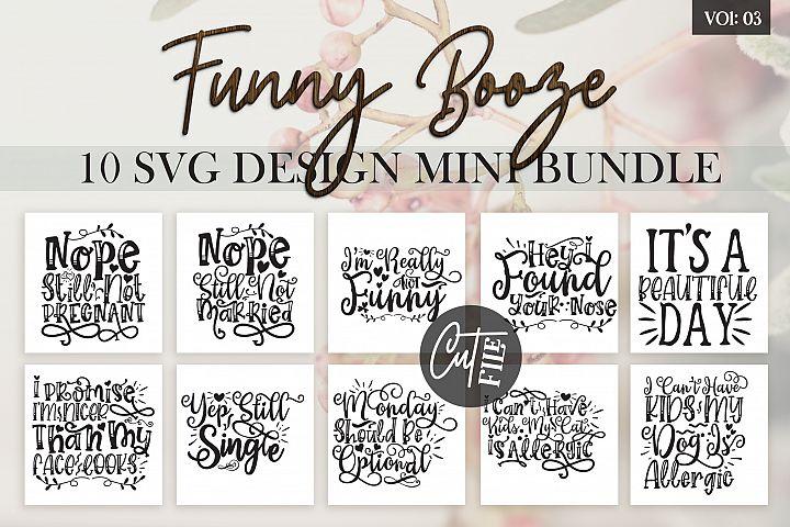 Funny Booze SVG Bundle Vol 3