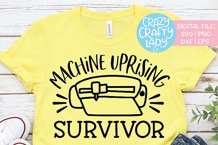 Machine Uprising Survivor Crafter SVG DXF EPS PNG Cut File