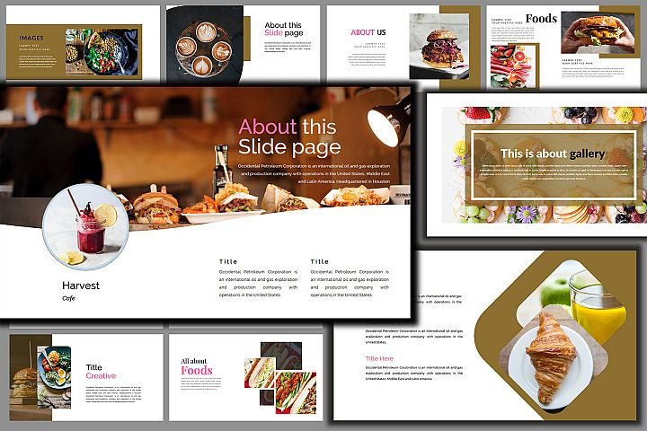 Delicious Food Keynote Template