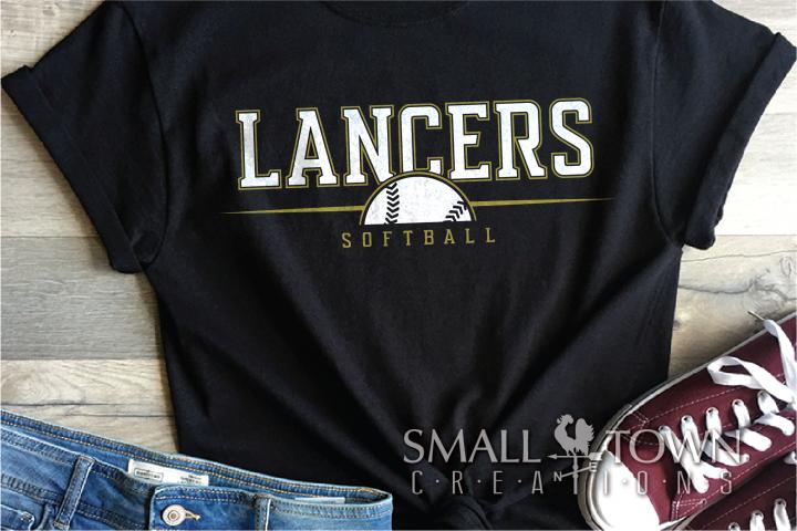 Lancer Softball Logo, Ball, Team, Sport, PRINT, CUT & DESIGN