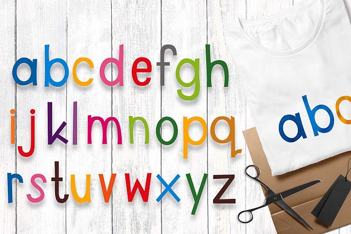 Alphabet letters lowercase - clip art illustrations