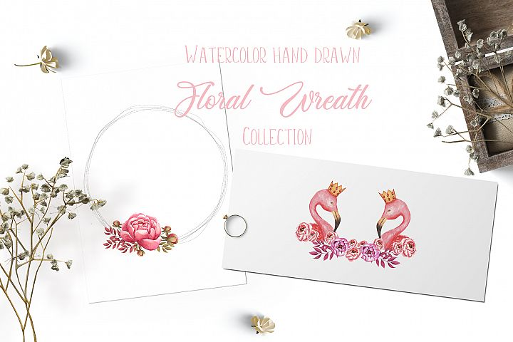 Watercolor wreath collection