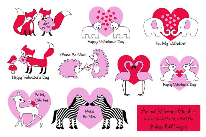 Animal Valentine Graphics