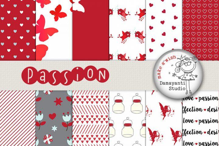 Passion digital pattern