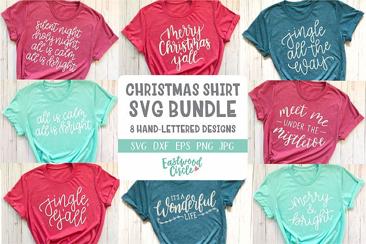 Christmas SVG Bundle - Hand Lettered Cut Files for Crafters