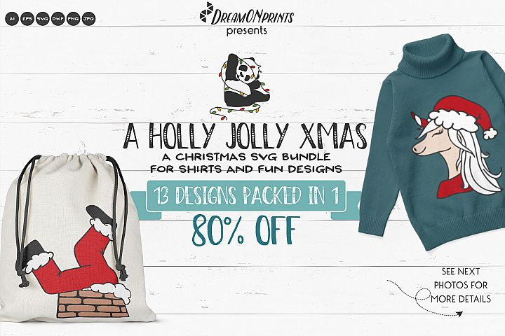 Holly Jolly Xmas | Funny Christmas SVG Bundle