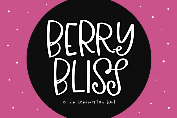 Berry Bliss - A Fun Handwritten Font
