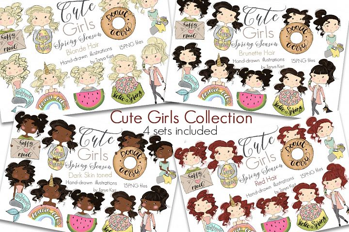 Cute Planners Girls Spring Collections Bundle