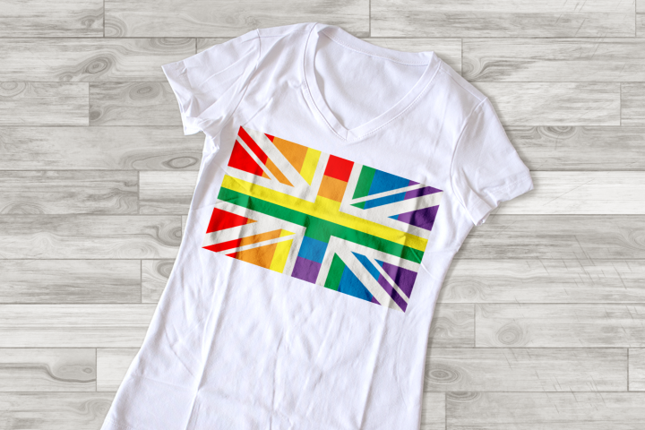 UK Rainbow LGBT Pride Flag SVG File