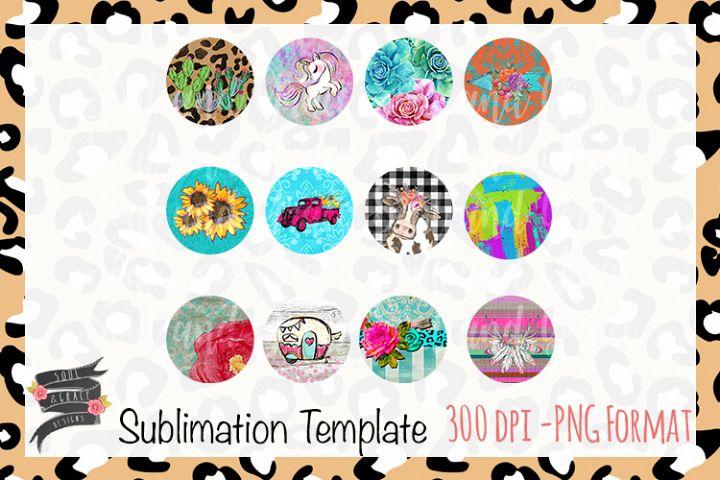 Coaster Circle Sublimation Template