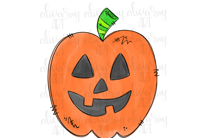 Jack o lantern Sublimation PNG Digital