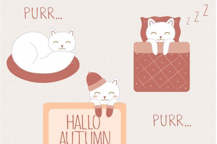 Vector purr cat