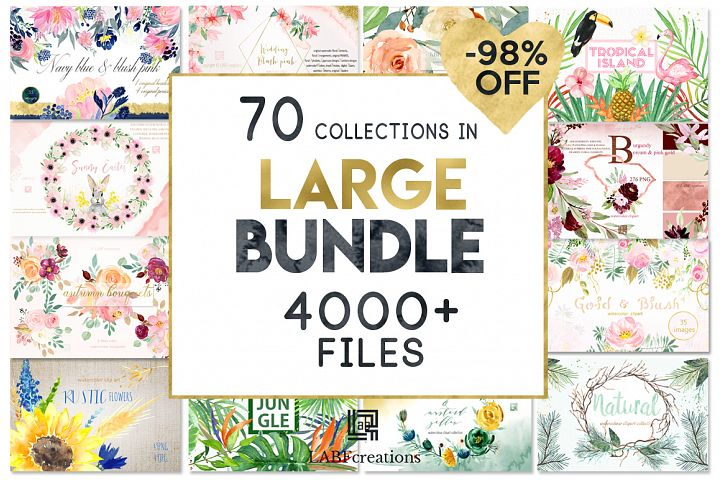 -98 Off Graphic Bundle 70 sets in 1