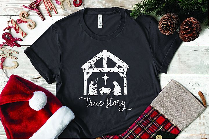 True Story Christmas SVG, Christian Christmas SVG Cut File