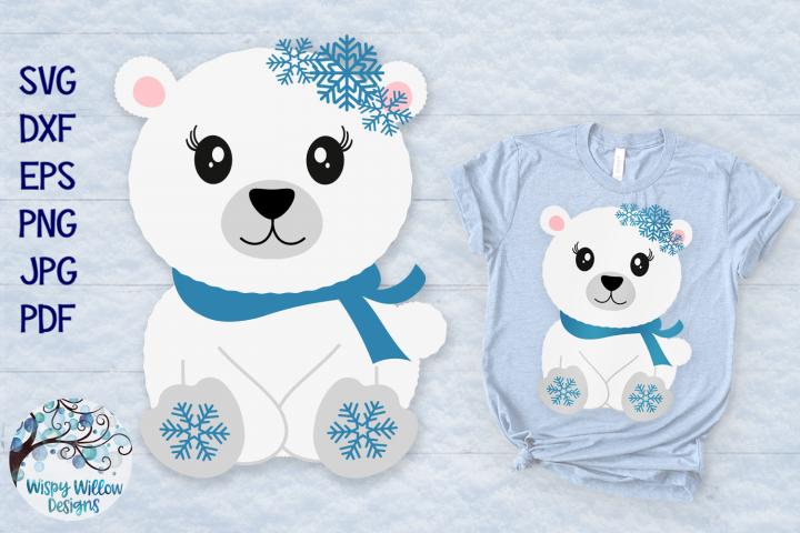 Polar Bear SVG | Winter Animal SVG Cut File