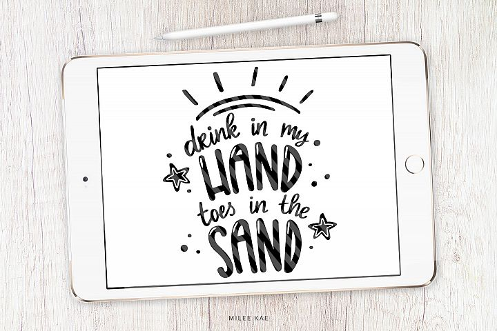 Summer Beach, Quote SVG, Cutting file, Decal