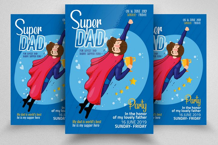 Super Dad Day Flyer Template