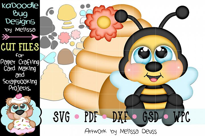 Spring Bumble Bee Hive Cut File - SVG PDF DXF GSD WPC