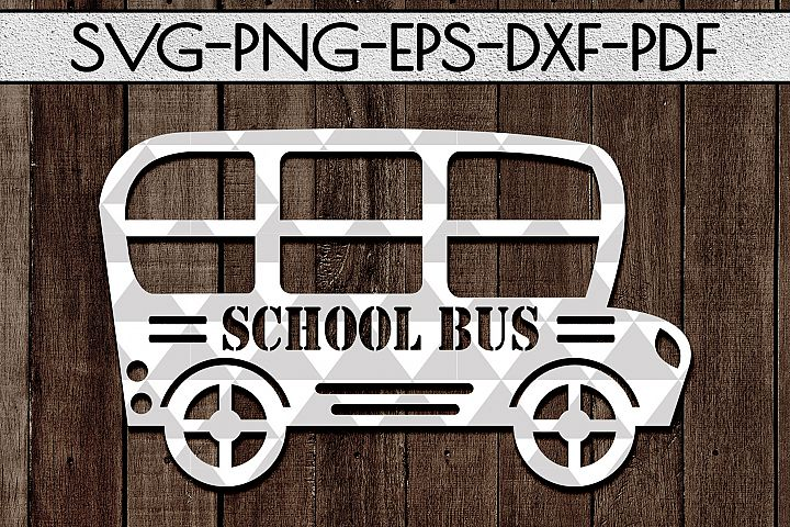 School Bus Papercut Template, Back To School SVG, DXF, PDF
