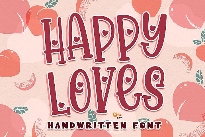 Happy Loves - Lovely Handwritten Font