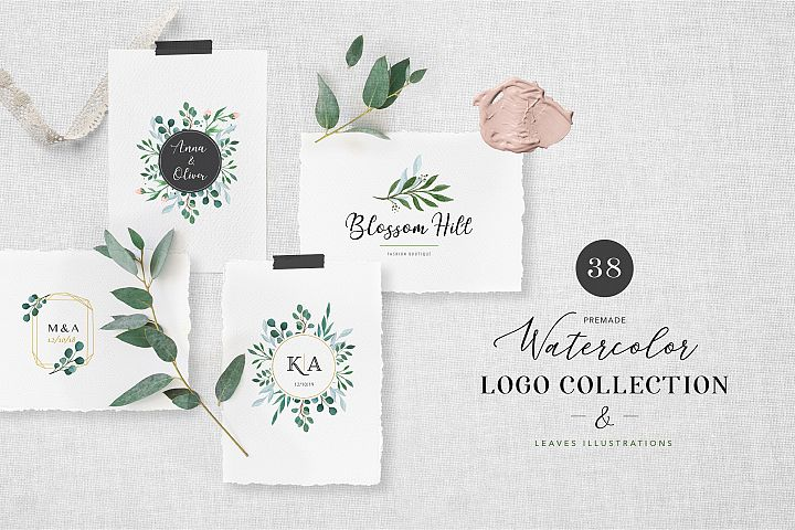 Watercolor Logo Collection