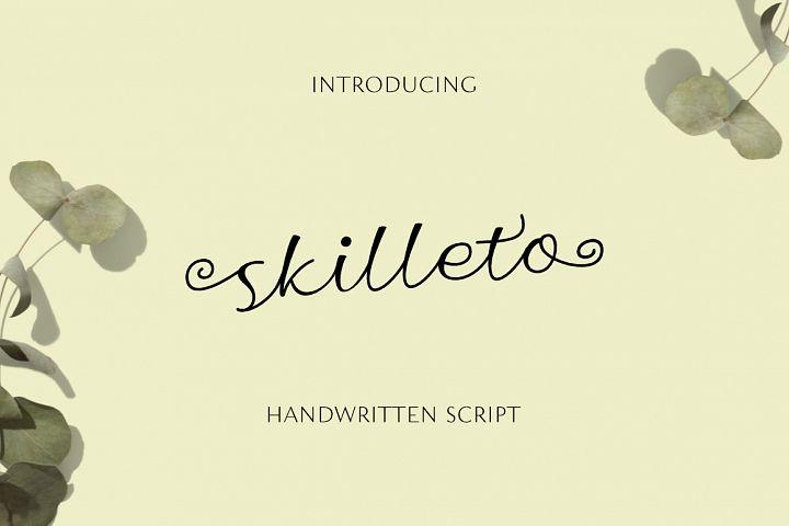 Skilleto Script