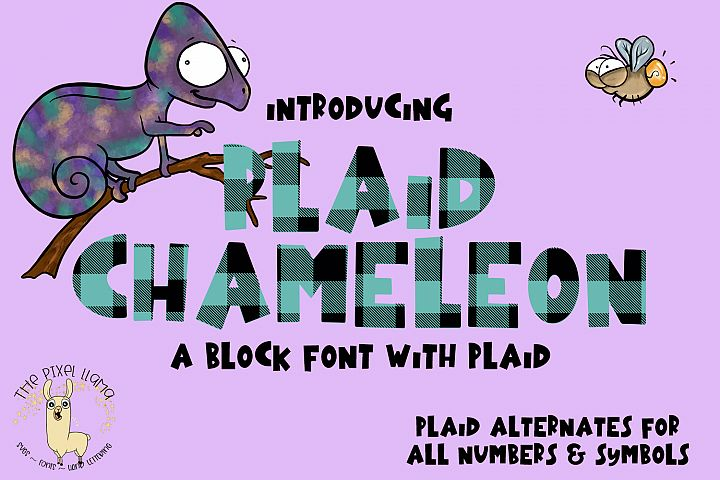 Plaid Chameleon A Block Font with Plaid