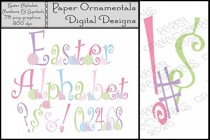 Easter Clip Art Alphabet, Easter Pastel Letters