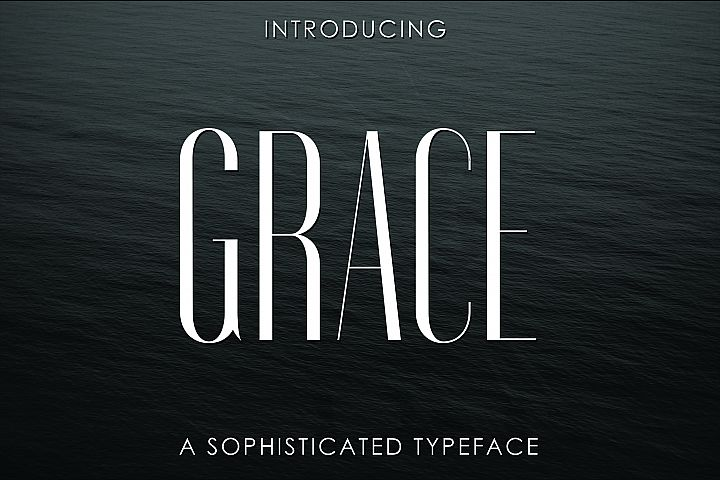GRACE, A Sophisticated Typeface