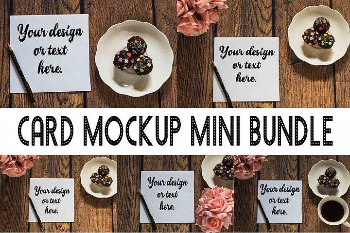 Card Mockup Mini Bundle Photography Stock photo