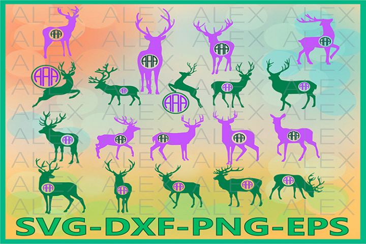 Deer Monogram SVG, Deer Monogram Svg, Deer png