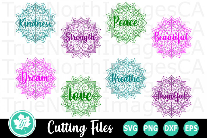 Mandala Inspirational Word Bundle - SVG Cut Files