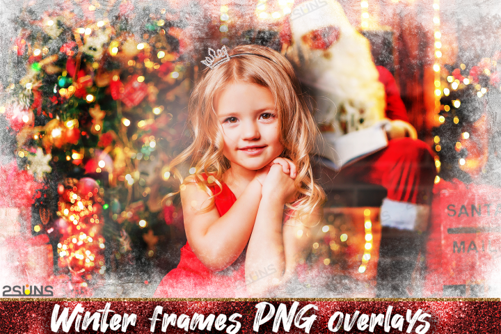Download photo overlays, christmas winter frames PNG