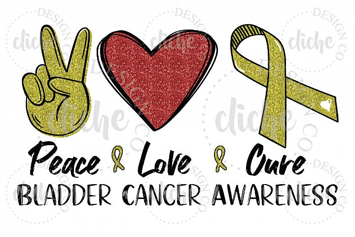 Bladder Cancer Awareness Sublimation Design