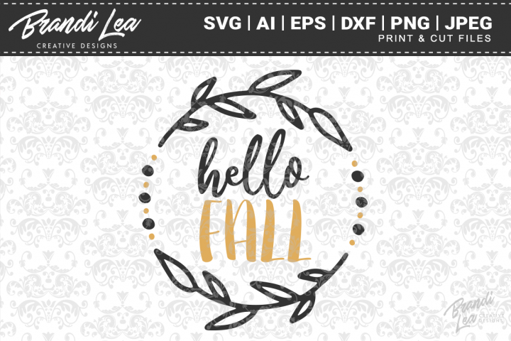 Hello Fall SVG Cutting Files