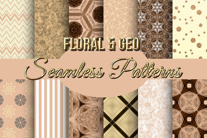 Floral and Geo Seamless Patterns