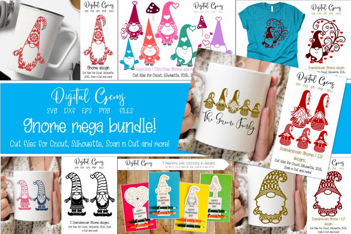 Gnome mega bundle, Valentines / Christmas designs